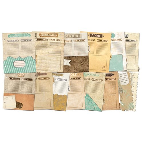 BoBunny - Misc Me - Vintage Calendar Dividers - Undated
