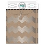 BoBunny - Misc Me Collection - Envelopes - Silver and Kraft