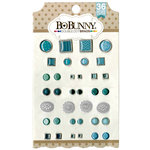 BoBunny - Double Dot Collection - Brads - Aqua