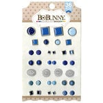 BoBunny - Double Dot Collection - Brads - Blue Hues