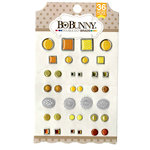 BoBunny - Double Dot Collection - Brads - Citrus