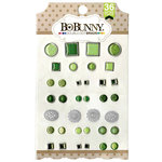 BoBunny - Double Dot Collection - Brads - Emerald