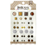 BoBunny - Double Dot Collection - Brads - Mocha