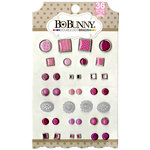 BoBunny - Double Dot Collection - Brads - Think Pink
