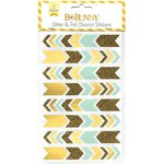 BoBunny - Glitter and Foil Stickers - Chevron