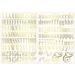 BoBunny - Foil Rub Ons - Alphabet - Gold