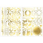 Bo Bunny - Foil Rub Ons - Filigree - Gold