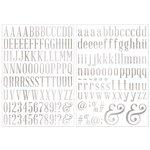 Bo Bunny - Foil Rub Ons - Alphabet - Silver
