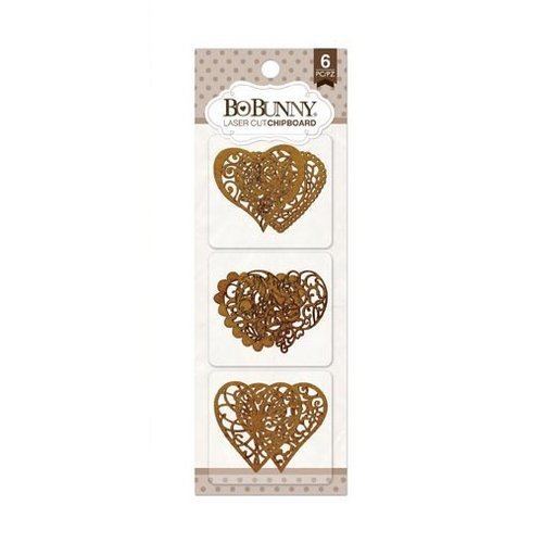 BoBunny - Laser Cut Chipboard - Hearts