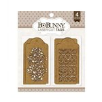 BoBunny - Laser Cut Chipboard - Trellis Tags