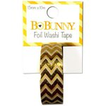Bo Bunny - Washi Tape - Chevron - Gold Foil