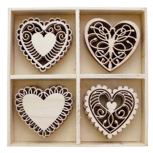 BoBunny - Wood Shapes - Hearts