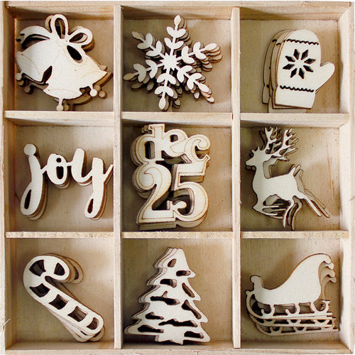 BoBunny - Wood Shapes - Christmas