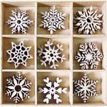 BoBunny - Wood Shapes - Snowflakes