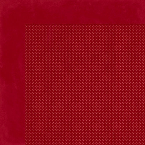 BoBunny - Double Dot Designs Collection - 12 x 12 Double Sided Paper - Cranberry