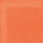 BoBunny - Double Dot Collection - 12 x 12 Double Sided Cardstock Paper - Tangerine
