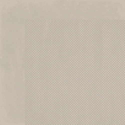 BoBunny - Double Dot Designs Collection - 12 x 12 Double Sided Paper - Taupe