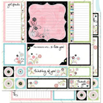 Bo Bunny Press - Alissa Collection - 12 x 12 Double Sided Paper - Alissa Cut-Outs