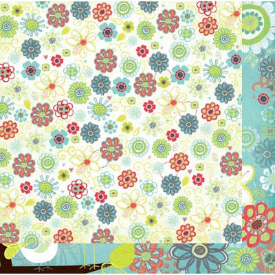 Bo Bunny - Alora Collection - 12 x 12 Double Sided Paper - Doodle
