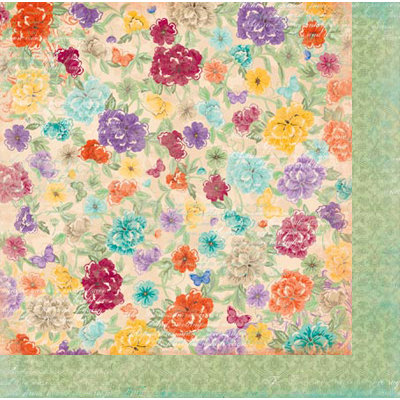 Bo Bunny - Ambrosia Collection - 12 x 12 Double Sided Paper - Flowers