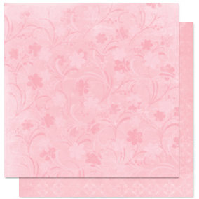 Bo Bunny Press - Alissa Collection - 12 x 12 Double Sided Paper - Alissa Love You