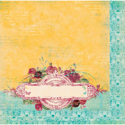 Bo Bunny - Ambrosia Collection - 12 x 12 Double Sided Paper - Marigold