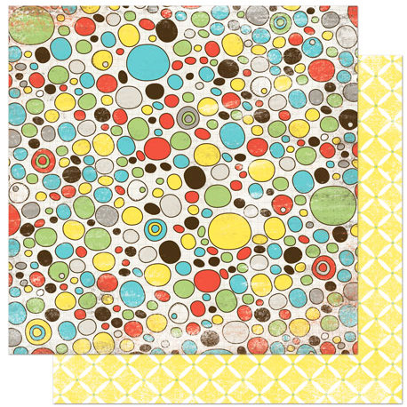 Bo Bunny Press - Ad Lib Collection - 12 x 12 Double Sided Paper - Pebbles