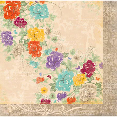Bo Bunny - Ambrosia Collection - 12 x 12 Double Sided Paper - Trellis