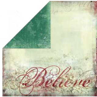Bo Bunny Press - Believe Collection - 12 x 12 Double Sided Paper - Believe