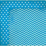 BoBunny - Double Dot Designs Collection - 12 x 12 Double Sided Paper - Chevron - Brilliant Blue