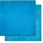 BoBunny - Double Dot Designs - 12 x 12 Double Sided Paper - Vintage - Brilliant Blue