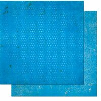 BoBunny - Double Dot Designs Collection - 12 x 12 Double Sided Paper - Vintage - Brilliant Blue