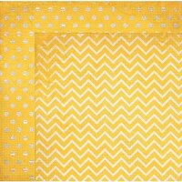 BoBunny - Double Dot Designs Collection - 12 x 12 Double Sided Paper - Chevron - Buttercup