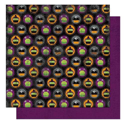 Bo Bunny Press - Boo Crew Collection - Halloween - 12 x 12 Double Sided Paper - Boo Crew Goblins