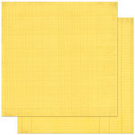 Bo Bunny Press - Double Dot Designs Collection - 12 x 12 Double Sided Paper - Journal - Buttercup