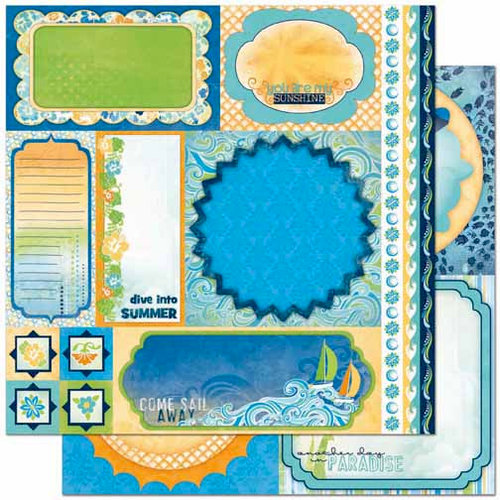 Bo Bunny Press - Barefoot and Bliss Collection - 12 x 12 Double Sided Paper - Cut Outs