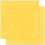 Bo Bunny Press - Double Dot Designs Collection - 12 x 12 Double Sided Paper - Flourish - Buttercup