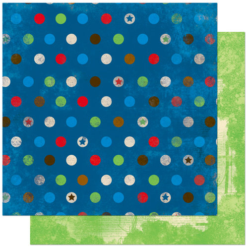 Bo Bunny Press - Block Party Collection - 12 x 12 Double Sided Paper - Block Party Dots