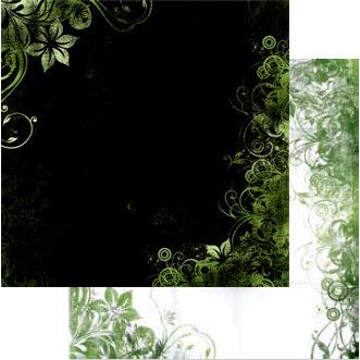 Bo Bunny Press - Beau Jardin Collection - 12 x 12 Double Sided Paper - Beau Jardin Clover