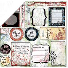 Bo Bunny Press - Beau Jardin Collection - 12 x 12 Double Sided Paper - Beau Jardin Cut Outs