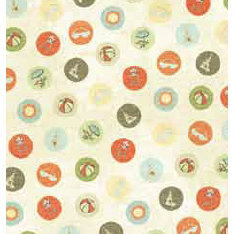 Bo Bunny Press - Beachy Keen Collection - 12x12 Paper - Beachy Keen Ball - Beach - Summer, CLEARANCE