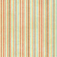 Bo Bunny Press - Beachy Keen Collection - 12x12 Paper - Beachy Keen Stripe- Beach - Summer