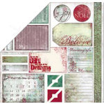 Bo Bunny Press - Believe Collection - 12 x 12 Double Sided Paper - Believe Cut Outs