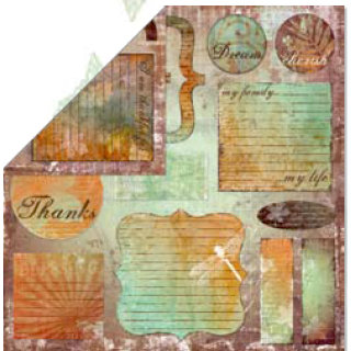 Bo Bunny Press - Beautiful Life Collection - 12 x 12 Double Sided Paper - Beautiful Life Cut Outs, CLEARANCE