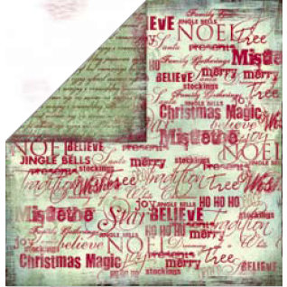 Bo Bunny Press - Believe Collection - 12 x 12 Double Sided Paper - Believe Noel, CLEARANCE