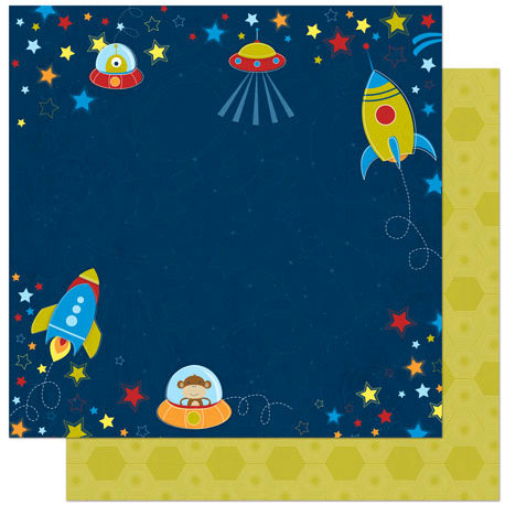 Bo Bunny - Blast Off Collection - 12 x 12 Double Sided Paper - Blast Off