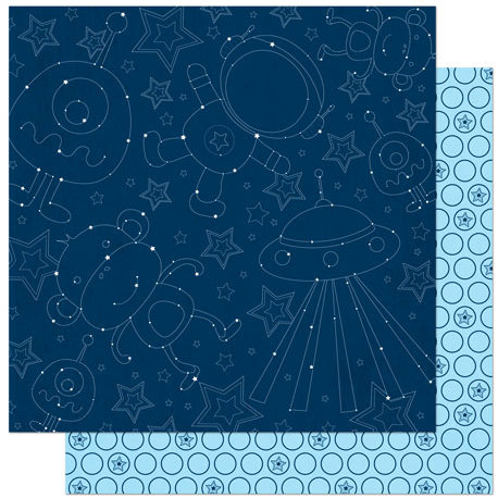 Bo Bunny Press - Blast Off Collection - 12 x 12 Double Sided Paper - Constellation