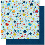 Bo Bunny - Blast Off Collection - 12 x 12 Double Sided Paper - Galaxy