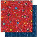 Bo Bunny Press - Blast Off Collection - 12 x 12 Double Sided Paper - Starburst