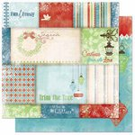 Bo Bunny - Blitzen Collection - Christmas - 12 x 12 Double Sided Paper - Patchwork